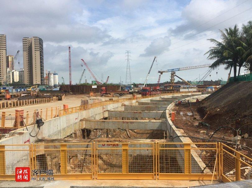 海口越江隧道江东段隧道一期围堰区主体结构封顶 累计完成10亿元的产值